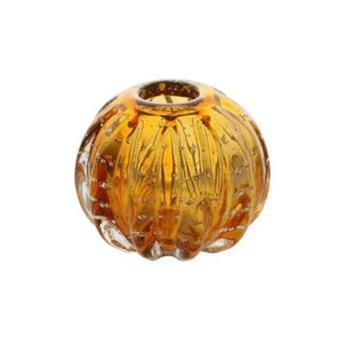 Esfera Murano Italy Âmbar e Dourado 12x10cm - Lyor