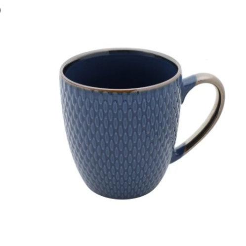 Caneca de Porcelana Drops Azul 400ml
