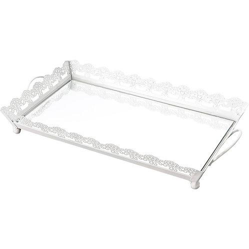 Bandeja de Ferro Esmaltado c/ Espelho 42 x 23 x 5cm