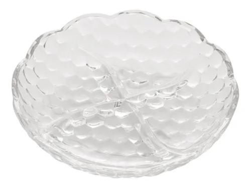 Petisqueira de Cristal 4 Divisões Bubble 18cm - Lyor