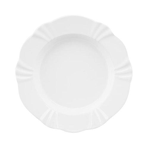 Prato Fundo de Porcelana Solei Branco 24cm - Oxford