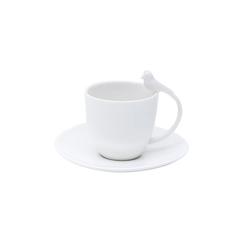 Xícaras de Café c/ Pires 85ml Birds - Wolff