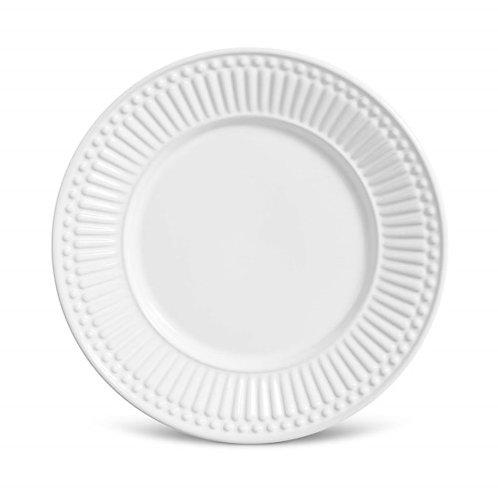 Prato Sobremesa Roma 20,5cm Branco - Porto Brasil