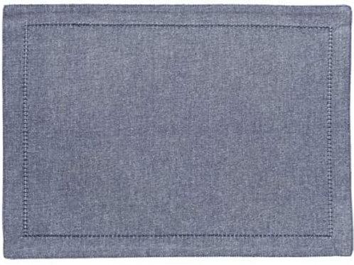 Lugar Americano Ponto Ajour jeans 45x33