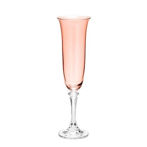 Taça de Cristal Ecológico para Champagne Kleopatra Rose Quartz 175ml - B