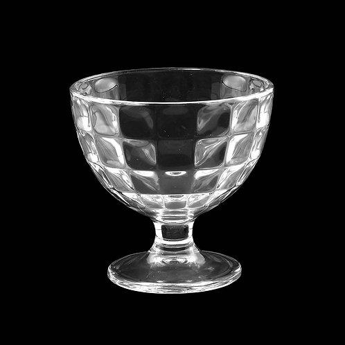Taça Sobremesa de Vidro Xadrez 298ml - Lyor