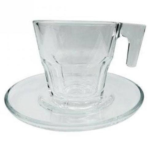Conj. 6 Xícaras de Cristal c/ Pires Allure 70ml - BonGourmet