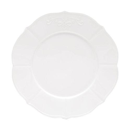 Prato Raso 27cm de Porcelana Super White Genebra - Lyor
