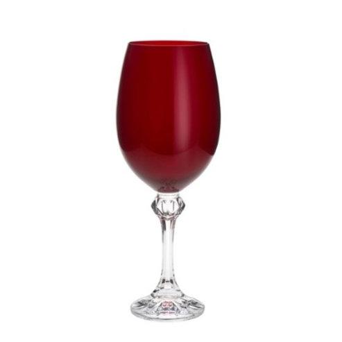 Taça de Cristal Ecológico p/ Vinho Elisa Rubi 450ml - Bohemia