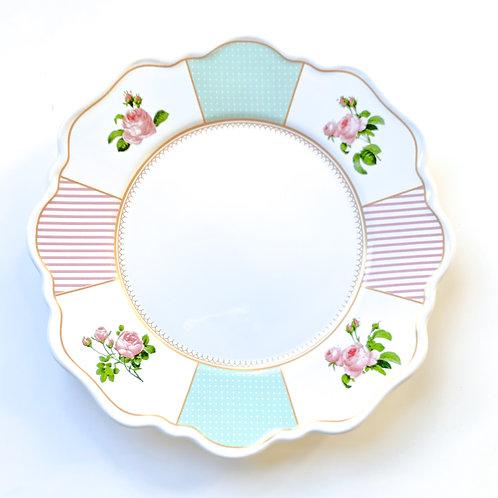 Prato Raso Belle Romance 30cm - Cerâmica Scalla