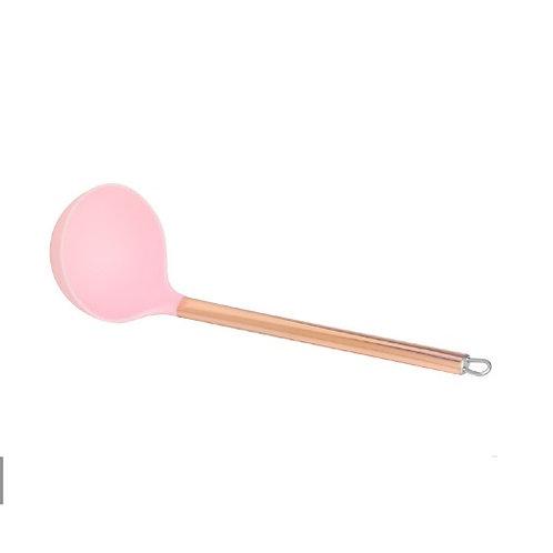Concha de Nylon c/Cabo de Aço Inox Rosé 30cm