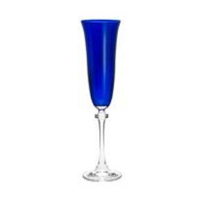 Taça de Cristal Ecológico para Champagne Kleopatra Blue (Azul) 175ml-Bohemia