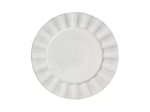Sousplat de Plástico Cook Preto e Branco 33cm