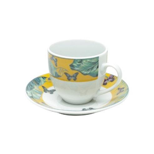 Xícara de Café c/ Pires em Porcelana Nature - Lyor