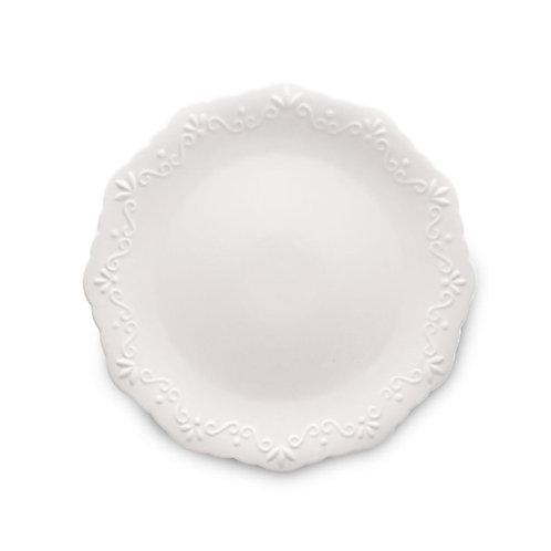 Prato Sobremesa de Porcelana Alto Relevo 19cm - Wolff