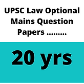 UPSC Law Optional Mains Question Papers ..........png