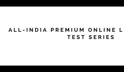 FINAL BATCH OF UPSC LAW OPTIONAL TEST SERIES 2017