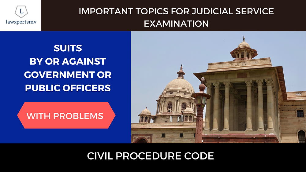 Notes for Special suits under Civil Procedure Code