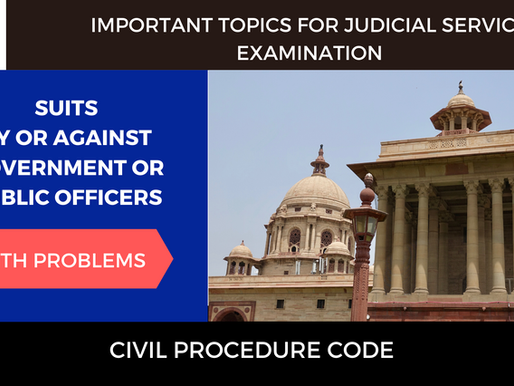 Special Suits | CPC | Suit against Government or Public Officer Section 79-82 & Order 27