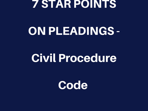 8-BULLET POINTS ON PRINCIPLES OF PLEADINGS