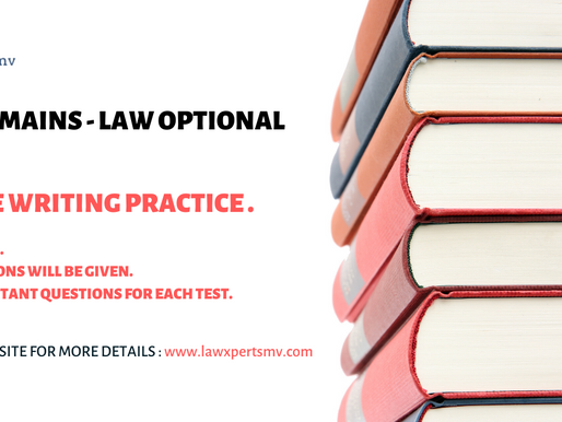 Free Writing Practice for UPSC Law Optional