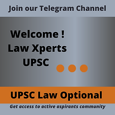 UPSC Law Optional Mains course - preferr
