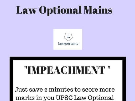 UPSC Law Optional Mains 2018 - Sure Shot Questions series | QUESTION : 1