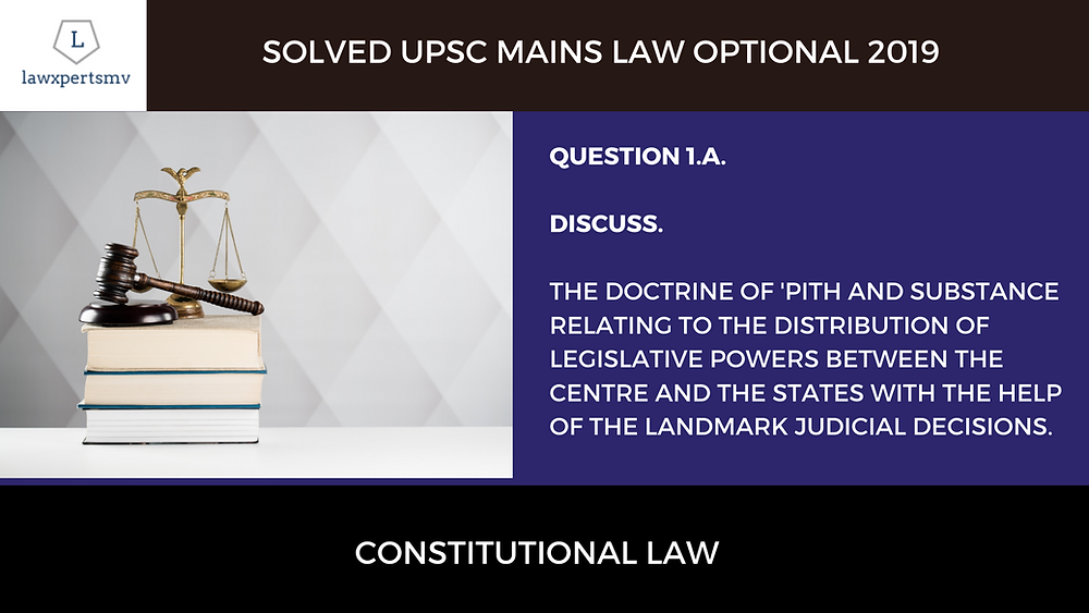 UPSC Mains 2019 Solved Law Optional