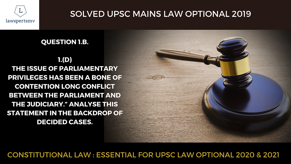UPSC Law Optional solved with answers.