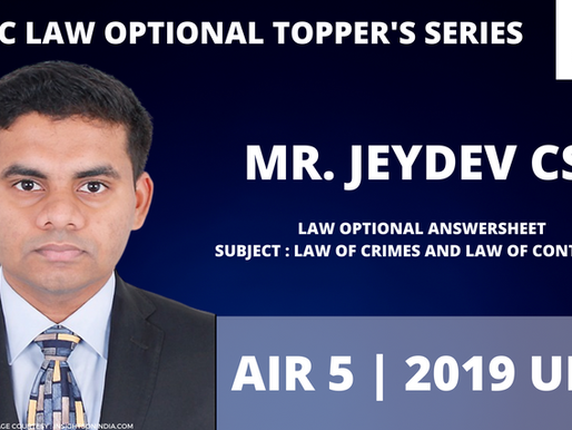 Jeydev CS AIR 5 | UPSC Law Optional Answer-copy |  UPSC Law Optional Strategy
