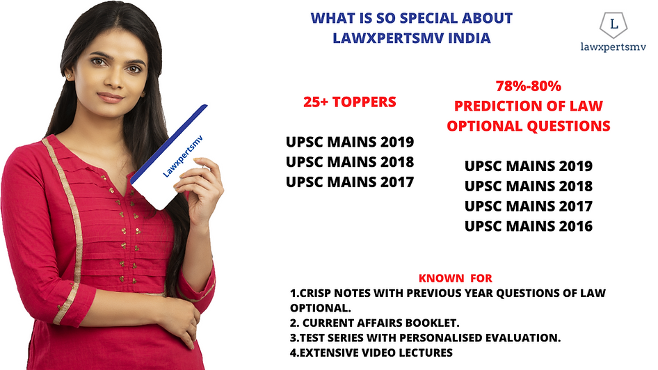 UPSC Law Optional Course, Notes, Test Series, Video Lectures