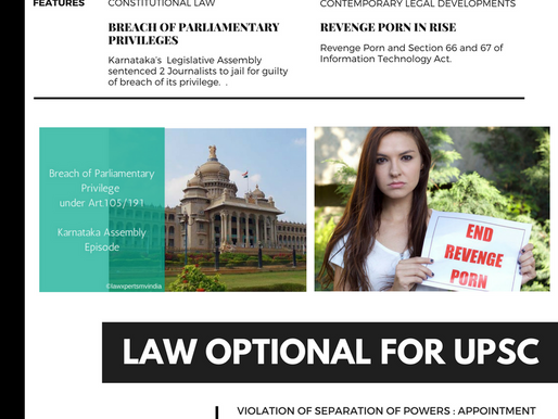 JUNE 2017: Monthly Compilation of Current Affairs for Law Optional Mains 2017/2018