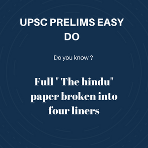Daily Prelims Current Affairs 2019/ 2020 | The Hindu broken into 4