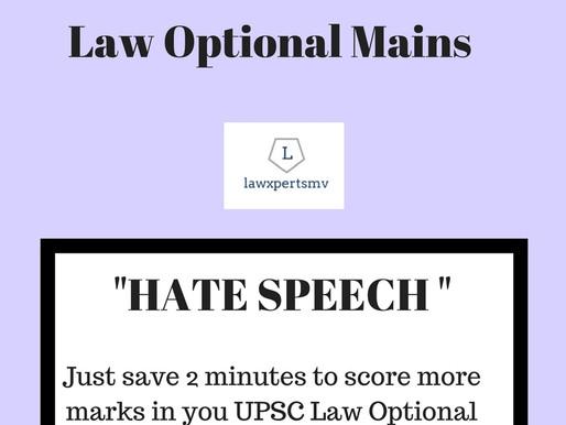 Sure- shot question : 2 : UPSC LAW OPTIONAL MAINS 2018
