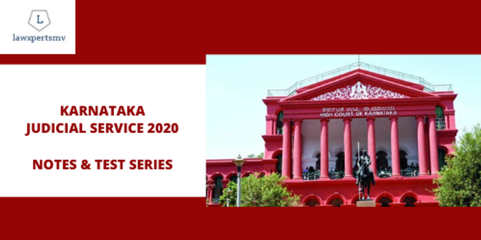 Karnataka Judicial Services : Notes and Test Series