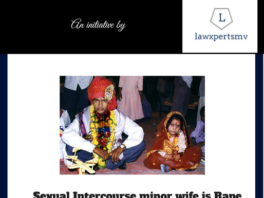 Sexual Intercourse with minor wife is rape