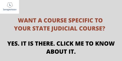 Course for Judicial Service Examinations