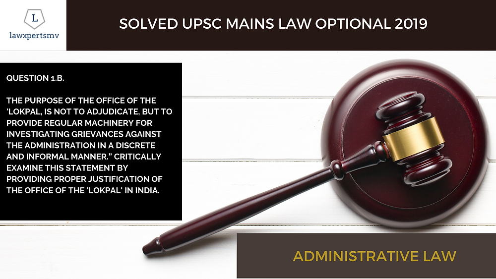 UPSC Law Optional Mains solved