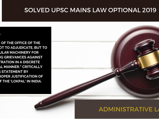 UPSC Law Optional 2019 Solved | Question 1b | Essentials for UPSC 2020 & 2021 Law Optional