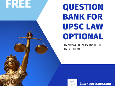 Question Bank for UPSC Law Optional | Previous Solved and many more.