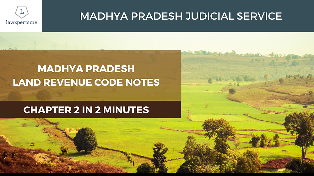 MPLRC Madhya Pradesh Land Revenue Code