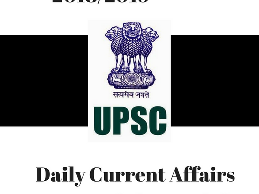 UPSC PRELIMS DAILY CURRENT AFFARIS 2018/2019 | DATED : 12/04/2018 | THURSDAY | The Hindu broken up i