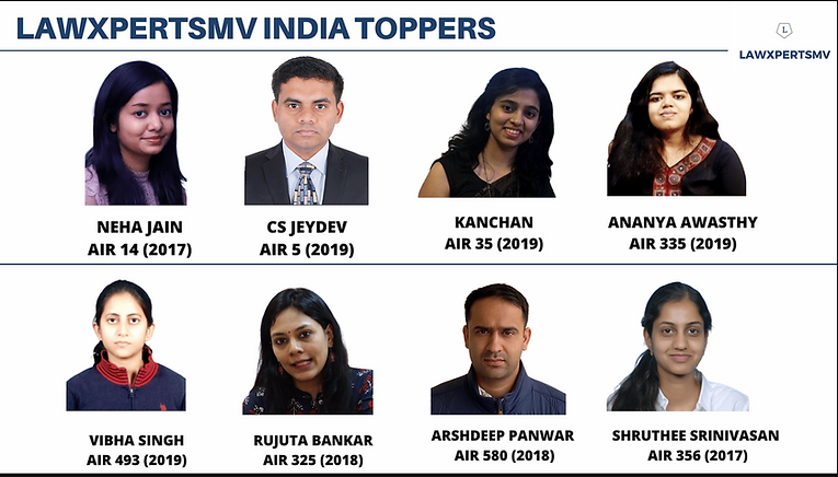 UPSC law Optional toppers