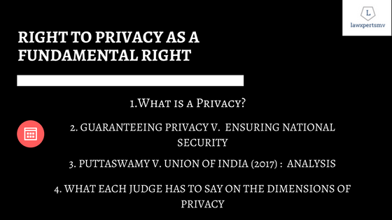 Right to Privacy as Fundamental Right Law Optional UPSC