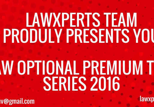PREMIUM TEST SERIES 2016 FOR LAW OPTIONAL