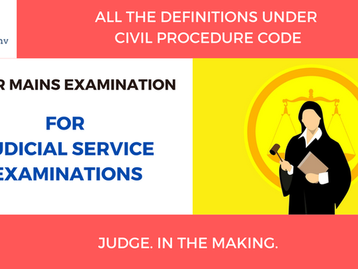 Definitions under CPC | For Mains | Judicial Service Examination