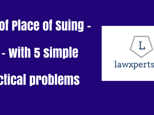 A BASIC UNDERSTANDING ON PLACE OF SUING