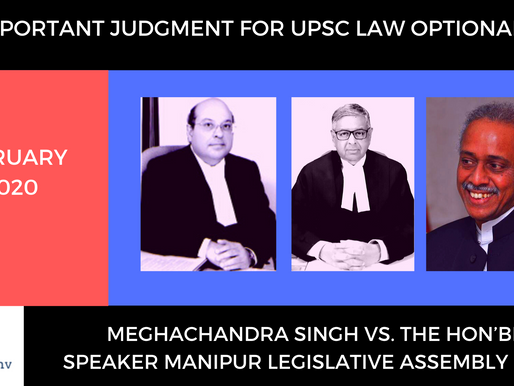 UPSC Law Optional 2020 & 2021 : Authority of the Speaker is Questioned