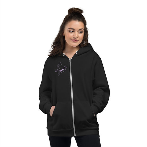 Spark witch Hoodie with back print without words