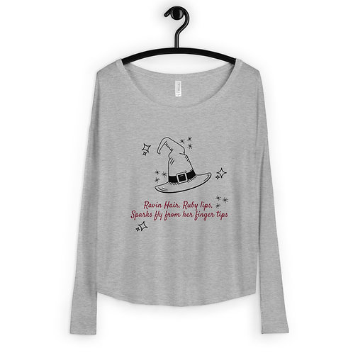 Witchy Woman Long Sleeve Scoop neck Tee
